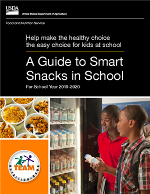 USDA A Guide to Smart Snacks in School cover